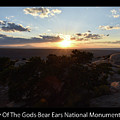 Sunset Valley Of The Gods Utah 01 Text Black by Thomas Woolworth