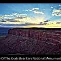 Sunset Valley Of The Gods Utah 03 Text Black by Thomas Woolworth