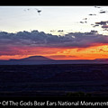 Sunset Valley Of The Gods Utah 05 Text Black by Thomas Woolworth