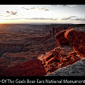 Sunset Valley Of The Gods Utah 09 Text Black by Thomas Woolworth