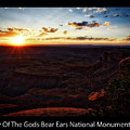 Sunset Valley Of The Gods Utah 11 Text Black by Thomas Woolworth