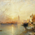 Sunset Venice by Thomas Moran
