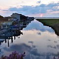 Sunset View At The Art League Of Ocean City - Maryland by Kim Bemis
