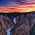 Sunset Waterfall by John K Sampson