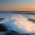 Sunset Wave Explosion by Mike Dawson