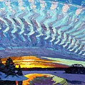 Sunset Waves Nite by Phil Chadwick