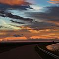 Florida Sunset Winding Road by Ken Figurski