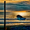 Sunset With Boat by Galeria Trompiz