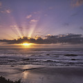 Sunset With God Beams by HW Kateley