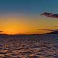 Sunset With Maui And Lanai by Jim Thompson