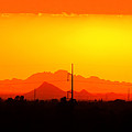 Sunset With Power Pole by Rick Lloyd