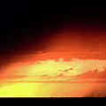 Sunset With Rain In Scenic Saskatchewan by Mark Duffy