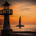 Sunsets And Sailboats by Jim Cole