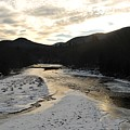 Sunsets On The Pemigewasset by Bill Driscoll