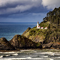 Sunshine After The Storm At Heceta Head Lighthouse by Teri Virbickis