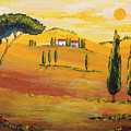 Sunshine In Tuscany In The Morning by Christine Huwer