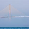 Sunshine Skyway Bridge In Fog I by Clarence Holmes