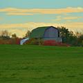 Sunsset On A Barn by Richard Jenkins