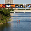 Sup Stand Up Paddle Board Couple Row Under The Focus One Point And Breathe by Austin Welcome Center