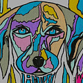 Super Hero - Contemporary Dog Art by Kathleen Sartoris