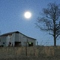 Super-moon, Simple Barn by Pete Lester    Art Collector