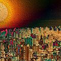 Super Moon by Kiki Art