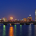 Super Moon Over Boston by Juergen Roth