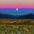 Super Moon Over Taos by Charles Muhle