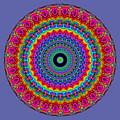 Super Rainbow Mandala by Ruth Moratz