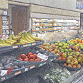 Supermarket Produce Section by David Zanzinger