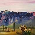 Superstition Mountains Last Walk       5.2017 by Cheryl Nancy Ann Gordon