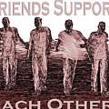 Support Friends In Bronze by Lance Sheridan-Peel