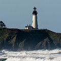 Surf And Lighthouse by Robert Potts