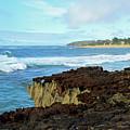 Surf At Mahaulepu Beach Hawaii by Bruce Gourley