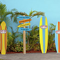 Surf Boards At Ron Jon's by Art Block Collections