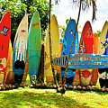 Surfboard Fence II-the Amazing Race by Jim Cazel