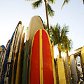 Surfboards At Waikiki by Dana Edmunds - Printscapes