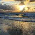 Surfcaster Sunrise Delray Beach Florida by Lawrence S Richardson Jr