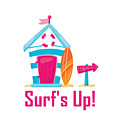 Surfer Art - Surf's Up Cabana House To The Beach by Life Over Here