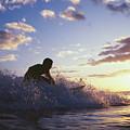 Surfer At Sunset by Bob Abraham - Printscapes