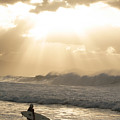 Surfer At Sunset by Vince Cavataio - Printscapes