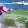 Surfer Girl Taking Flight by Waterdancer