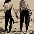Surfer Girls by Brad Scott