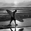 Surfer Heading Home by Catherine Sherman