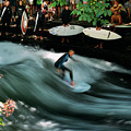 Surfer On The Eisbach, Munich, Germany by Alexandre Rotenberg