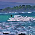 Surfer Rides The Outside Break by Bette Phelan