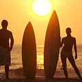 Surfer Silhouettes by Larry Dale Gordon - Printscapes