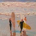 Surfers by Barbara Andolsek