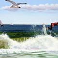 Surfers by Michael Nowak