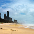 Surfers Paradise On A Stormy Day by Susan Vineyard